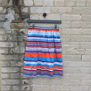 Vibrant, striped J Crew skirt